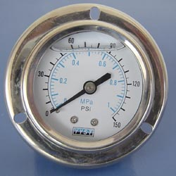 "2"" Liquid Filled Pressure Gauge with Flange, Flanged Pressure Gauges"